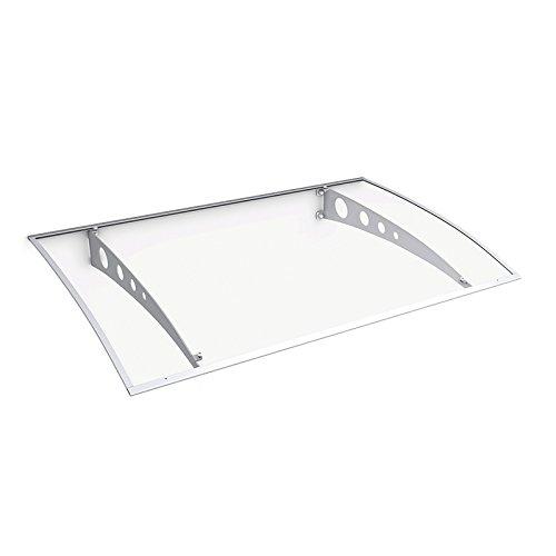 Schulte deurluifel Lyra 1, transparant getoogd Acrylglas, 140x90 cm, edelstaal- wit, V1225-30-04
