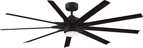 cheap Fanimation MAD8152DZW Odyn Custom ceiling fan with light kit, 56 inches, black, matte …