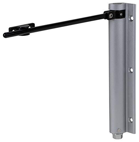 Gedotec Türschließer Innentür Stangen-Türschließer mit Feder | Edelstahl Türfeder verstellbar | Türgewicht bis 40 kg | 1 Stück - Metall Automatik Feder-Schließer silber inkl. Befestigungsmaterial