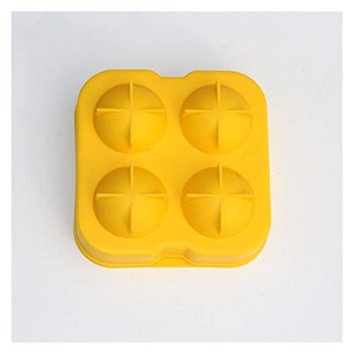 GLADMIN Ice Cream Mould Sphere Ice Cream Mold Ball Ice Cube Round Ice Mould Bar Accessiories Kitchen Ice Cream Tools (Color : Yellow)