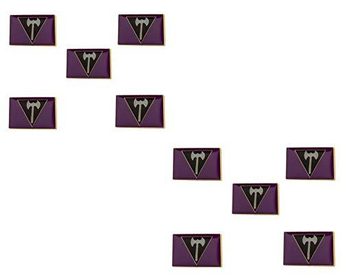 10 Pieces Lesbian Labrys Flag Lapel Pin 20mm x 15mm Pride LGBT Pride