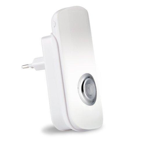 Trebs 99736 2 in 1 LED-sensor nood- en nachtlampje met zaklamp voor stopcontact, bewegingsmelder 60 ° C hoek