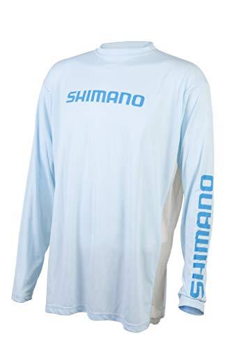 SHIMANO Angelausrüstung mit langen Ärmeln., Herren, Artic Blue, Medium