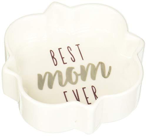 Pavilion – Best Mom Ever – Morado y Plata – Mini Plato de joyería de 3 Pulgadas con Caja de Regalo