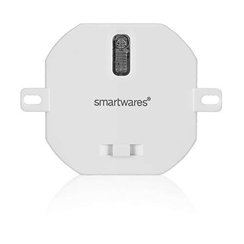 Smartwares - Módulo empotrable Plug & Connect con regulador de intensidad para iluminación inalámbrica de hasta 200 W, sistema de hogar SH4-90265 blanco