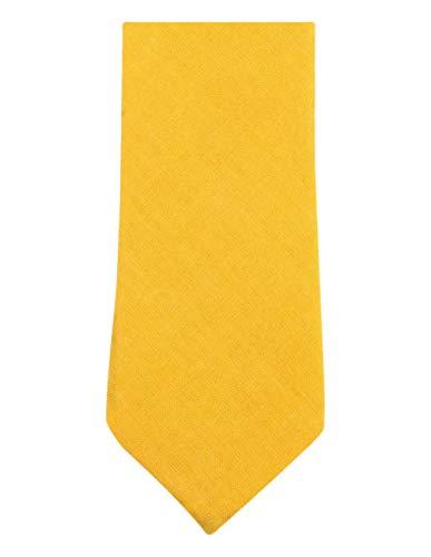 Algodón liso Corbata flaca de Knightsbridge Neckwear