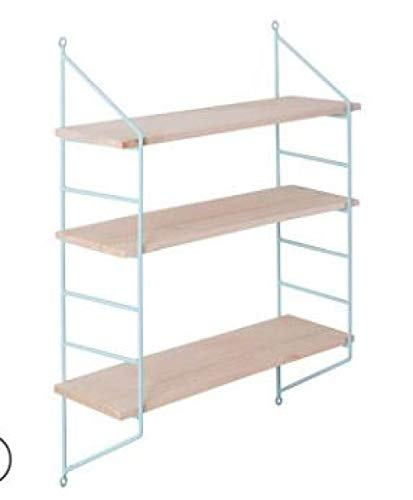 Versier LKU Scandinavische houten plank metalen wandplank Nordic wanddecoratie plank kinderkamer opbergdoos, blauw