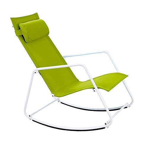Bseack Schaukelstuhl, Shake The Nature Abnehmbare Kopfstütze Ergonomisches Design Balkon Garten Faule Freizeit/Mittagspause (Farbe : A)