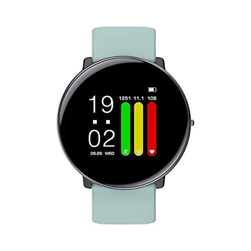Smart Watch 1.3 Pulgadas Pantalla táctil Completa 4 mm SmartWatch Ultra-Delgado Medición de la Temperatura de la Temperatura de la Salud del sueño IP67 Reloj de Banda Inteligente Impermeable