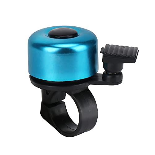 Moweallarge Fahrradklingel Fahrradklingel Fahrradklingel Laut Knackiger, klarer Klang für Rennrad Mountainbike Sportfahrrad Bunte Aluminium-Fahrradklingel für Erwachsene und Kinder (Blau)