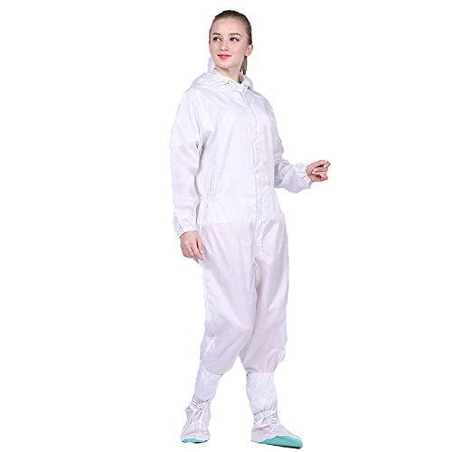 Farzeo beschermende kleding kan worden hergebruikt, 1-delige capuchon beschermende kleding, stof- en anti-statische schoonmaak werkkleding om de invasie van splitsingen te weerstaan