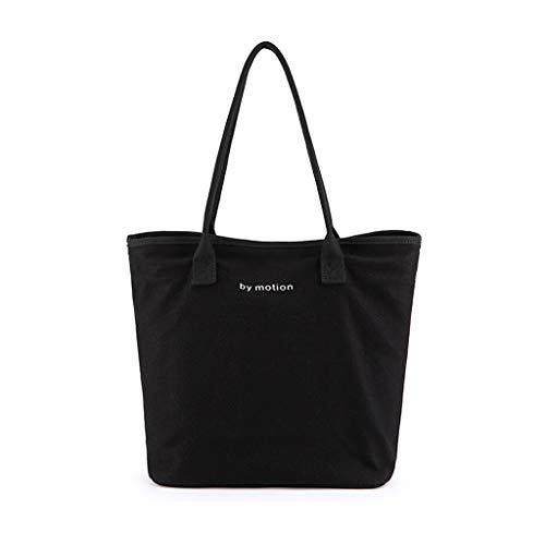 XXT Umweltschutz-Beutel-Retro- Nette eine Schulter Tasche Stoff Umweltschutz Tasche (Color : Black)