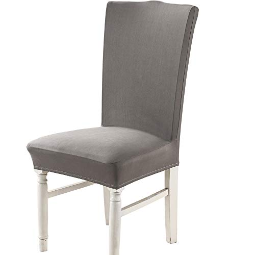 Follome Stretch Dining Chair Covers, Removable Minimalism Seat Chair Slipcovers, Washable Furniture Protector Cover for Hotel, Dining Room, Ceremony, Banquet,...