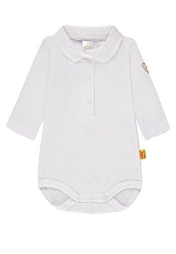 Steiff Steiff Baby-Mädchen 1/1 Arm Formender Body, Weiß (Bright White White 1000), 80