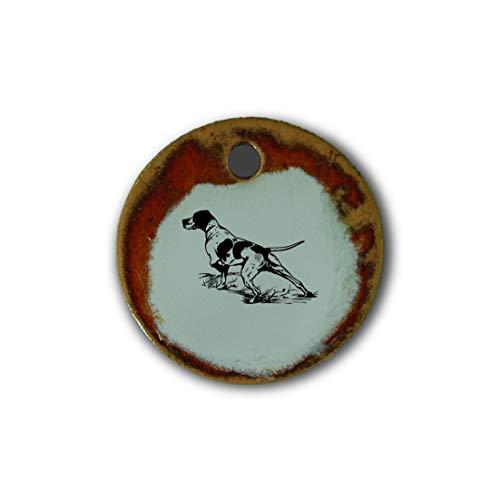 """Muy bonito colgante de cerámica """"perro"""" jaspeado en rojo;"""