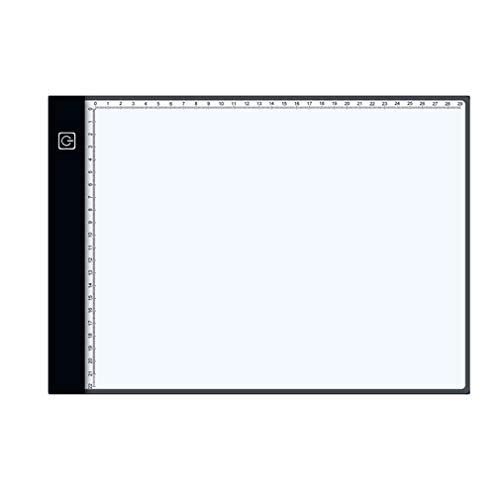 WEQQ Anime Black Edge Scale Tablet Tableta de Dibujo Digital Tabletas gráficas (atenuación de Tres velocidades Negra)