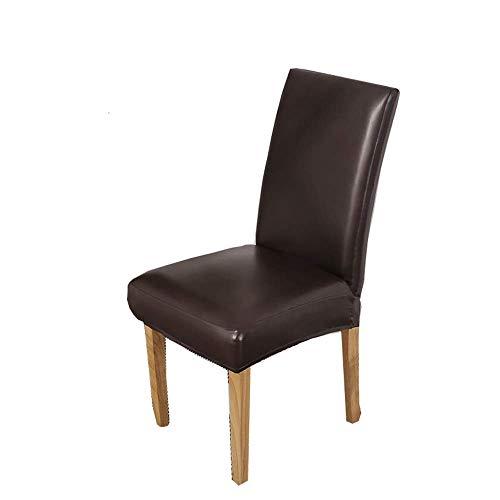 Jonist Stuhlhussen für Esszimmerstühle, wasserdicht, aus PU-Leder, elastisch, abnehmbar, waschbar, für Esszimmerstühle