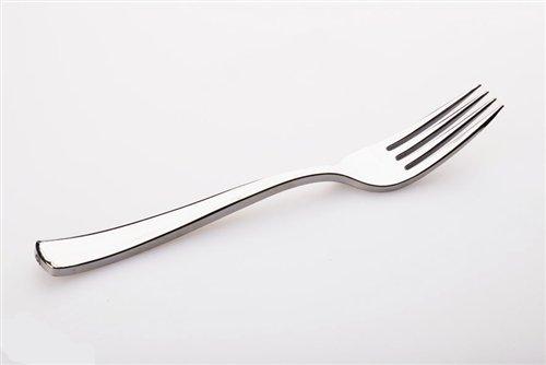 100 x SABERT MOZAIK Argent plastique couteaux métallisé Réutilisables Jetable Couverts