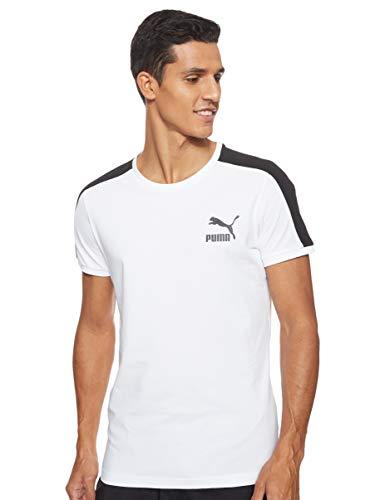 PUMA Herren Iconic T7 Slim Tee T-Shirt, White, L