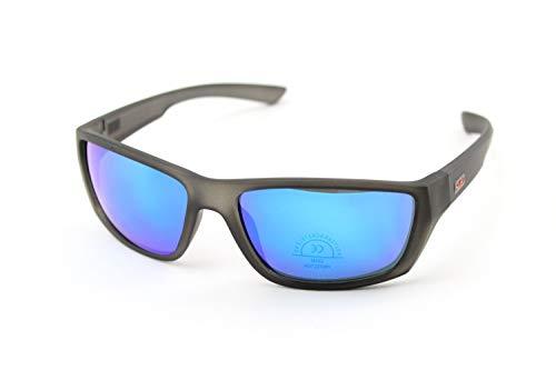 KTM Brille Fahrrad-Fahrrad Polarisiert Mod.Factory aus Polycarbonat, Glasfarbe wählen (Blau)