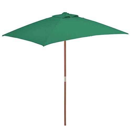 XNJJ Exterior sombrilla, 150 * 200 cm a Prueba de Agua y UV a Prueba de jardín de césped de jardín al Aire Libre Vida al Aire Libre Paraguas Parasol Verde 9.7