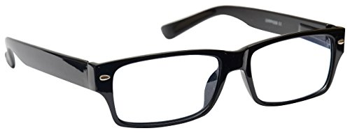 Black Near Short Sighted Distance Glasses for Myopia Mens Womens Spring Hinges M6-1 -1.50