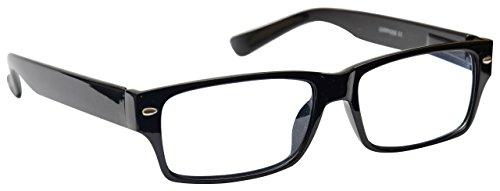 The Reading Glasses Company  Schwarz Kurzsichtig Fernbrille Für Kurzsichtigkeit Herren Frauen M6-1 -2, 50 / Schwarz