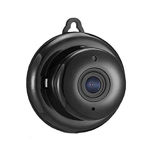 Runfon Cámara cámara inalámbrica Mini WiFi de la cámara de Seguridad portátil Inicio de cámara de vigilancia Nocturna por Infrarrojos para videocámaras Digitales de Interior al Aire Libre Negro
