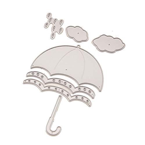 Stanzschablone aus Karbonstahl, zum Basteln, Prägen von Alben, Papierkarten, Regenschirm, 1 Stück