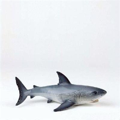Bullyland 67410 - Spielfigur, Weißer Hai, ca. 16 cm groß, liebevoll handbemalte Figur, PVC-frei, tolles Geschenk für Jungen und Mädchen zum fantasievollen Spielen