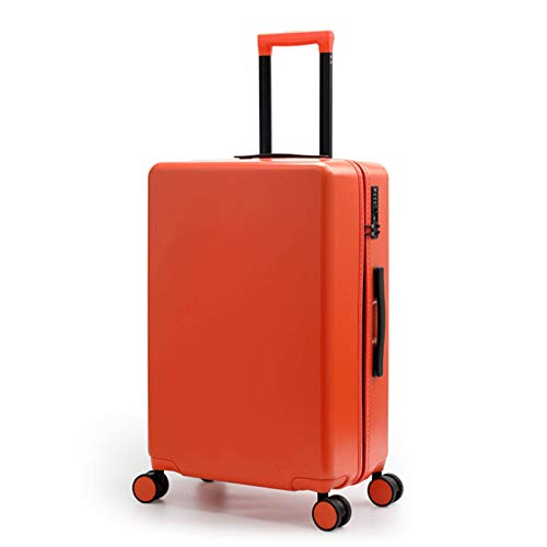 Lightweight Luggage, Waterproof Sturdy Durable Silent Wheel with TSA Lock Spinner High Quality Suitcase for Tourism Vacation Storage-43x26x69cm(62L)-Orange