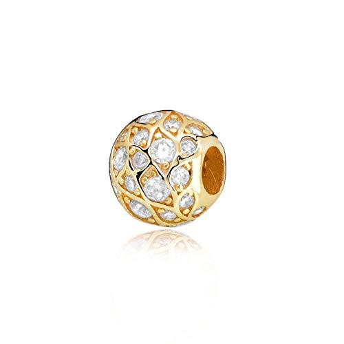 LILIANG Joyería De Bricolaje Otoño Patrón Brillante Charm Charm Beads Fit Original Pandora Pulseras Mujeres
