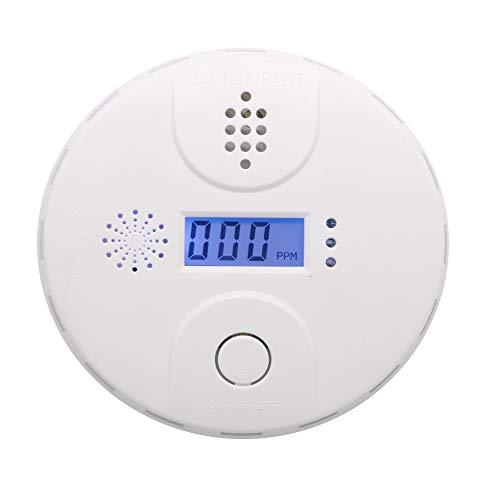 YZIF CO Détecteur de monoxyde de Carbone Alarme de monoxyde de Carbone gaz -écran LCD Son d alarme 85dB-conformément à la Norme DIN en 50291(Blanc)