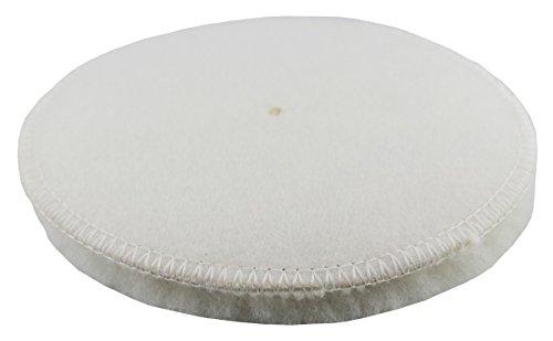 CLEANEXTREME Clean Extreme Peau d'agneau de polissage polissage Blanc Diamètre 133 mm – pour la voiture avec la Polisseuse