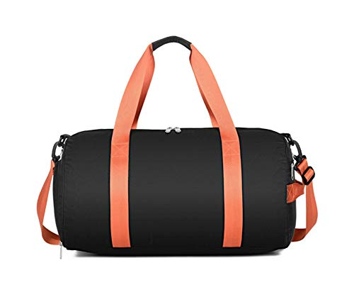 Dry And Wet Separation Gym Handbag Outdoor Sports Short-distance Travel Bag With Shoe Warehouse Large Capacity Cloth Luggage Storage Bag Carry on-25L-black