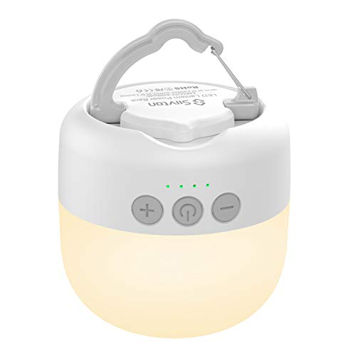 Siivton Camping Lantern, Rechargeable Camping light 6400mAh Power Bank Charger - IP65 Ultral Bright Camping Lamp Outdoor Tent Light for Hiking Fishing Camp