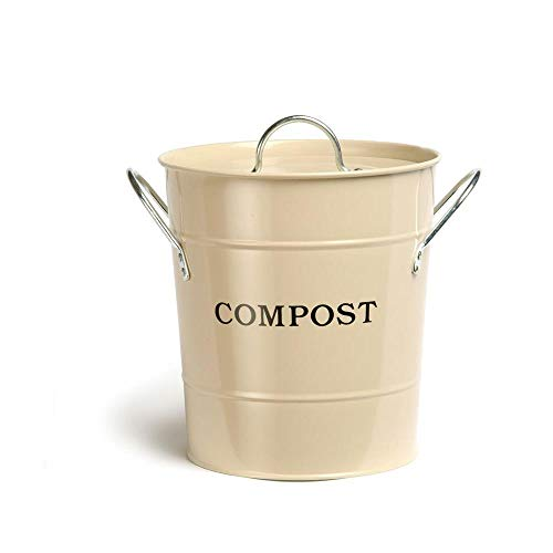 Great Deal! Exaco CPBS01 2-in-1 1 Gallon Indoor Compost Bucket, Oatmeal