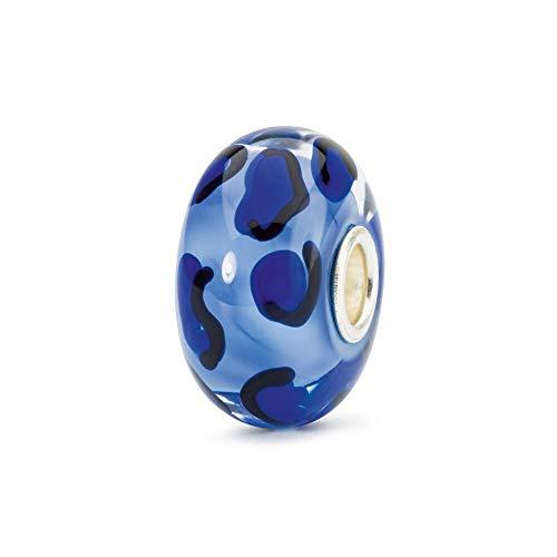 Trollbeads Vetro Bead Ghepardo Azzurro
