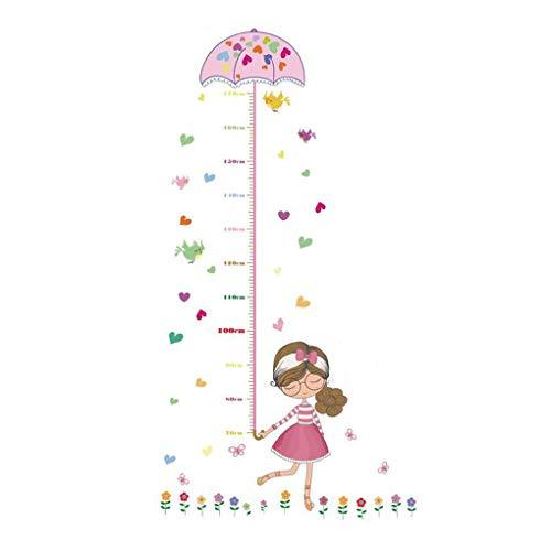 Dessin animé animaux Stickers muraux Stickers muraux Home Decor pour bébé garçons filles enfants Chambre à coucher Décoration de cuisine Pretty Girl Height Measurement