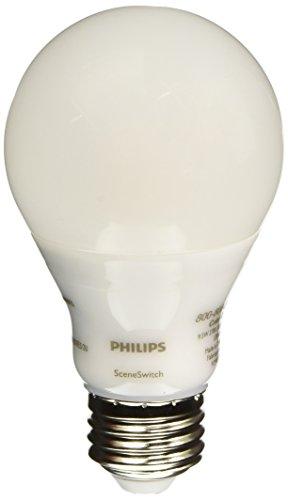 Philips 60W Equivalent Daylight/Soft White/Warm Glow SceneSwitch A19 LED Light Bulb