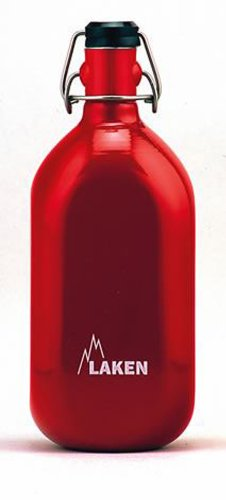 Laken Cuadrada Botella de Agua de Aluminio con presión grolsch-Type Top 34onzas.