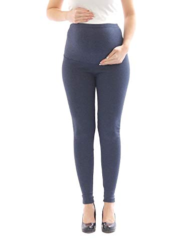 yeset Umstandsleggings Thermo Fleece innen Hose lang Baumwolle Umstand-Leggings Jeans M