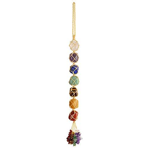 7 Chakra Healing Crystals Feng Shui Hanging Ornament Car Ornament Meditation Hanging Ornament Window...