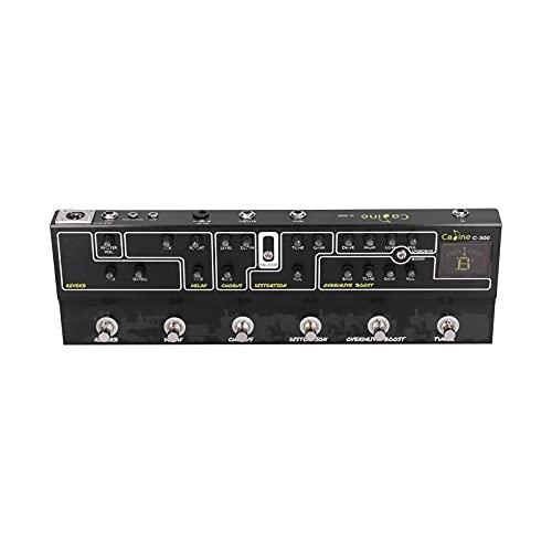 Voluxe Pedal de Efectos de Guitarra, Pedal de Efectos múltiples 220V 50HZ con Adaptador de Corriente Junta de Cable de alimentación para Guitarra