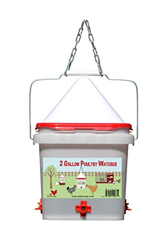 Rent-A-Coop 2 gallon Chicken Waterer with Horizontal Nipple