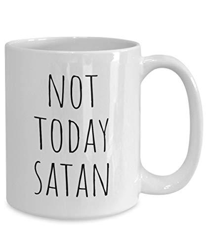 Sp567encer Nicht Heute Satan lustige Tasse besten christlichen Gott Jesus Christus Kirche Bibel Kaffeebecher Geschenk