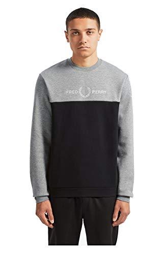 Fred Perry M7519 Sweatshirt Mann Gray XS