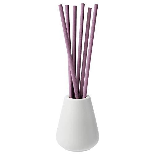 My- Stylo Collection Vase und 6 Duftstäbchen, Lavendelbliss, Flieder, Duft von Lavendel, Honig und Holz, Material: Behälter: Steingut, farbige Glasur, Stab: PET-Kunststoff