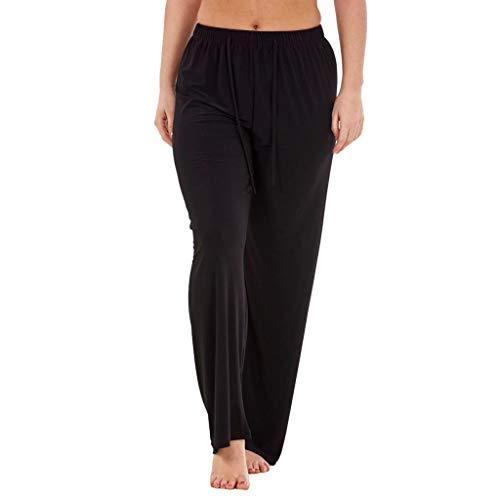 Zarupeng dames chino broek effen leggings elastische breedte been lange broeken hoge taille vrijetijdsbroek joggingbroek strandbroek met trekkoord