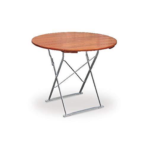 Table de terrasse ronde ø100 cm euroLiving edition classic ocre/métal galvanisé